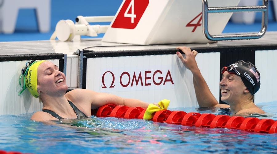 Women's 400m freestyle gold medallist Ariarne Titmus on Monday.