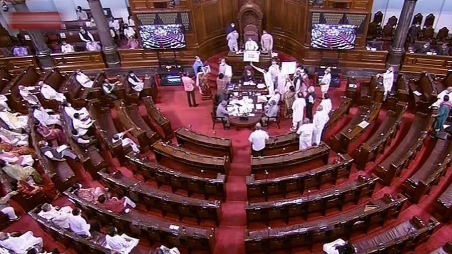 Opposition parties speak up against various issues at the Rajya Sabha on Tuesday.