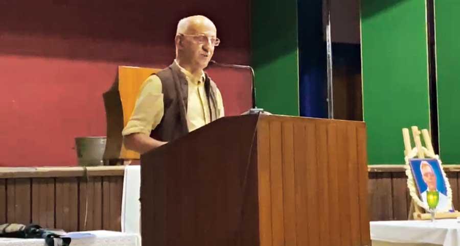 Harsh Mander speaks at the  Delhi gathering