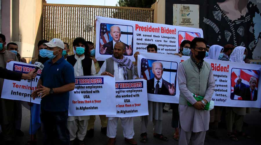 Groups of Afghans will arrive by plane roughly every three days and be transported to Fort Lee, said one US official.