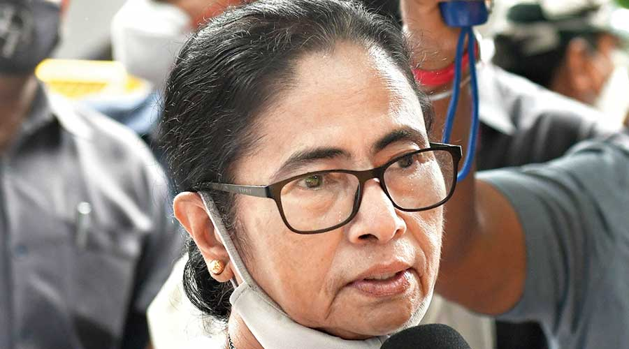 Mamata Banerjee addresses the media in New Delhi  on Friday