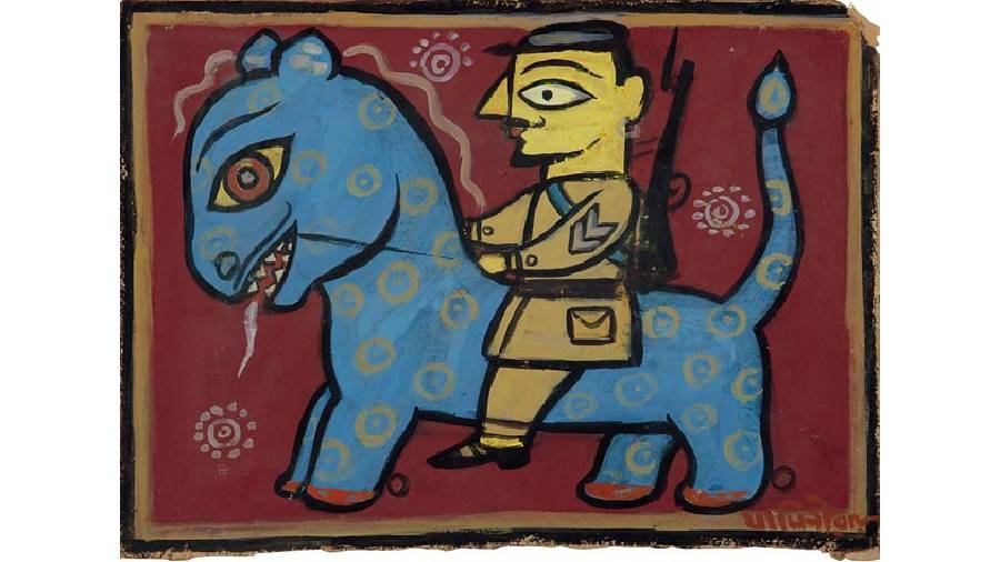 Untitled work by Jamini Roy at the DAG fundraiser