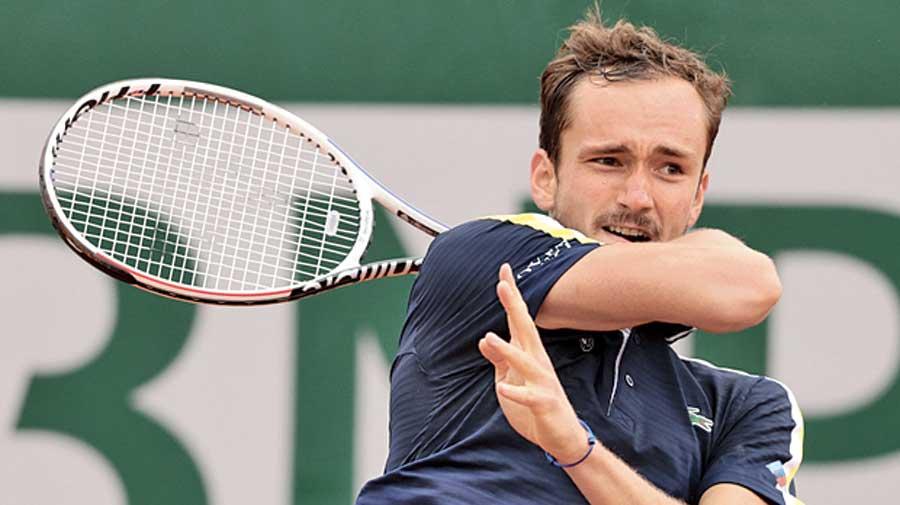 Daniil Medvedev during his third round match on Friday.