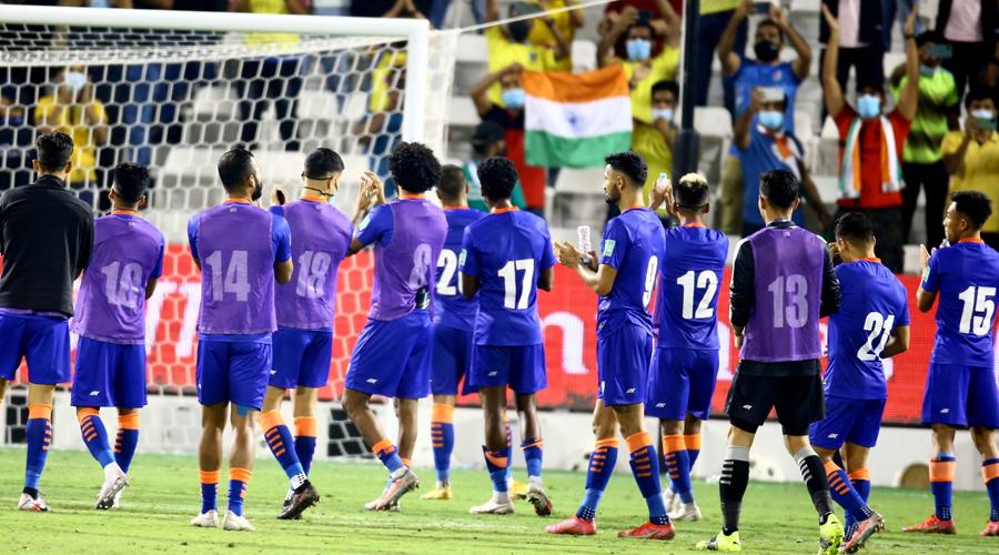 Indian football team at Doha.