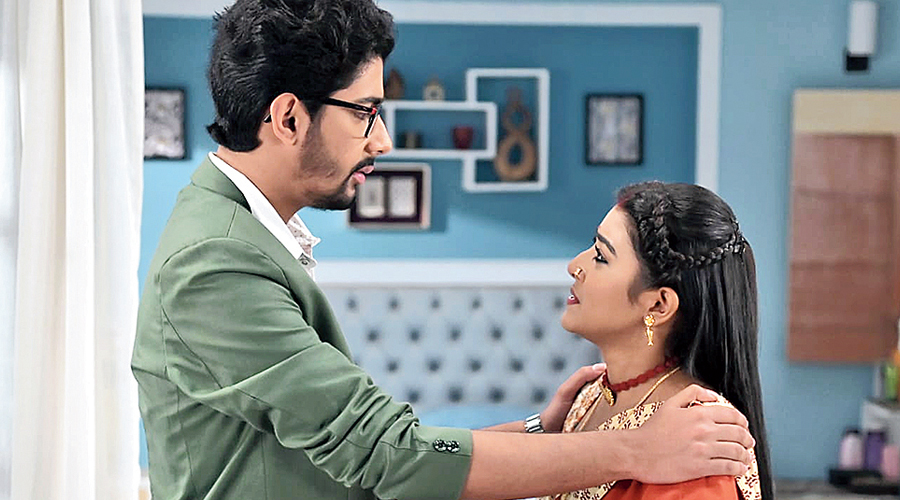 On the sets of Agnisikha, a Bengali soap, before shooting was suspended.
