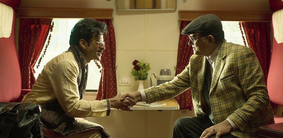 Manoj Bajpayee and Gajraj Rao in Hungama Hai Kyon Barpa , directed by Abhishek Chaubey