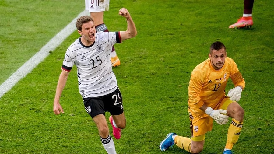 Muller last scored for Germany in March 2018