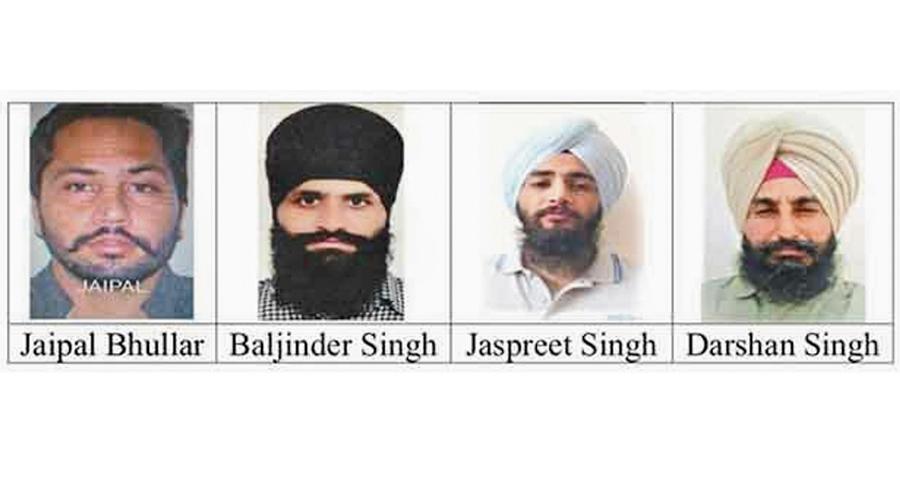 (From left) Jaipal Singh Bhullar, Baljinder Singh, Jaspreet Singh and Darshan Singh. Jaipal and Jaspreet were killed in New Town.