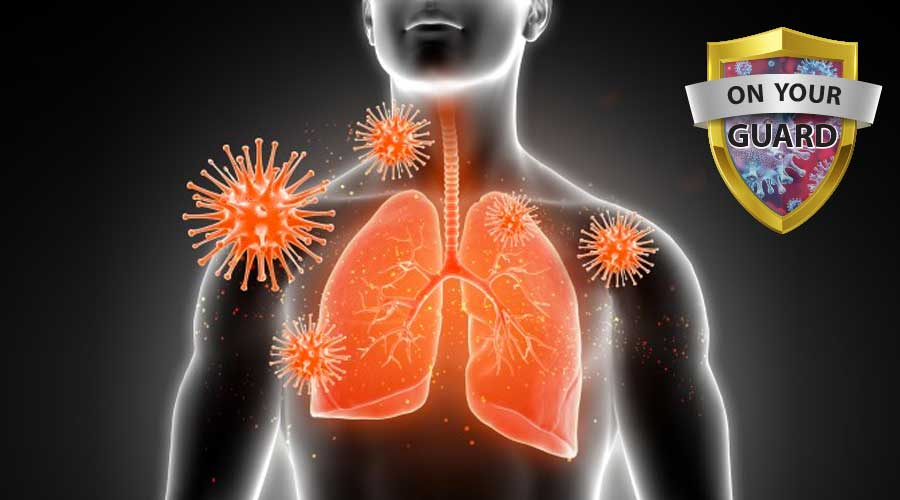 In pneumonia, the lungs become filled with fluid and inflamed, leading to breathing difficulties while in Covid patients, the pneumonia tends to take hold in both lungs.