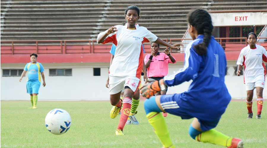A women's football tournament in Jamshedpur in 2019.