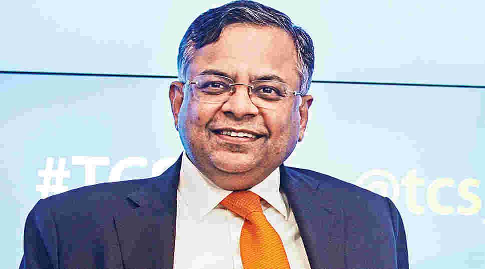 TCS chairman N. Chandrasekaran.