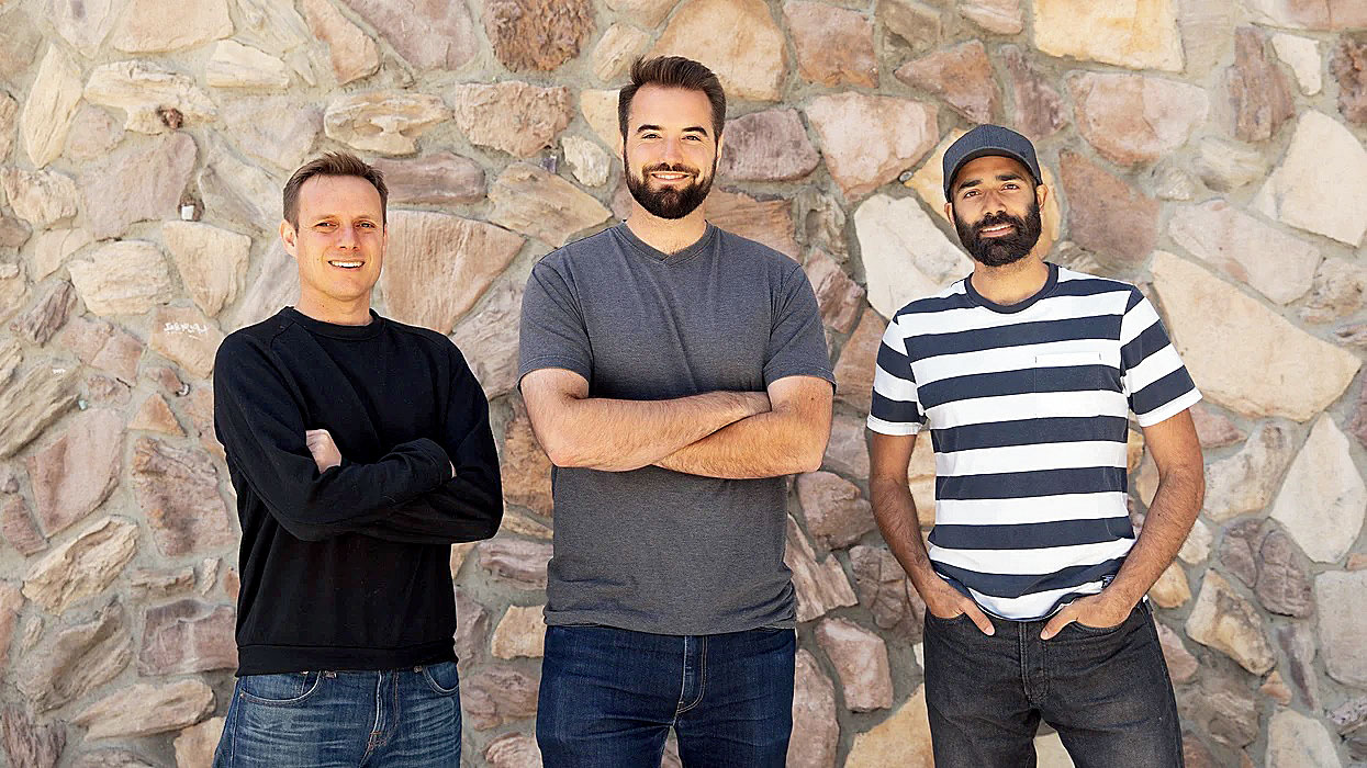 Substack is founded by (left to right) Hamish McKenzie, Chris Best and Jairaj Sethi.