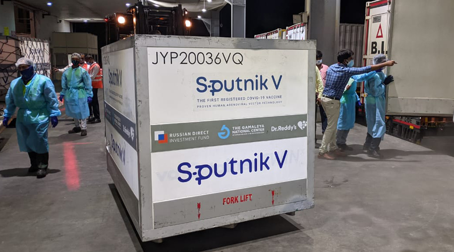 Arrival of a new batch of Sputnik V vaccine in India.