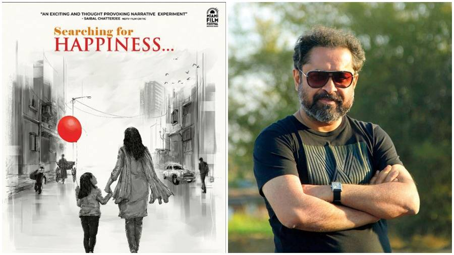 (L-R) The poster of Searching for Happiness directed by Suman Ghosh