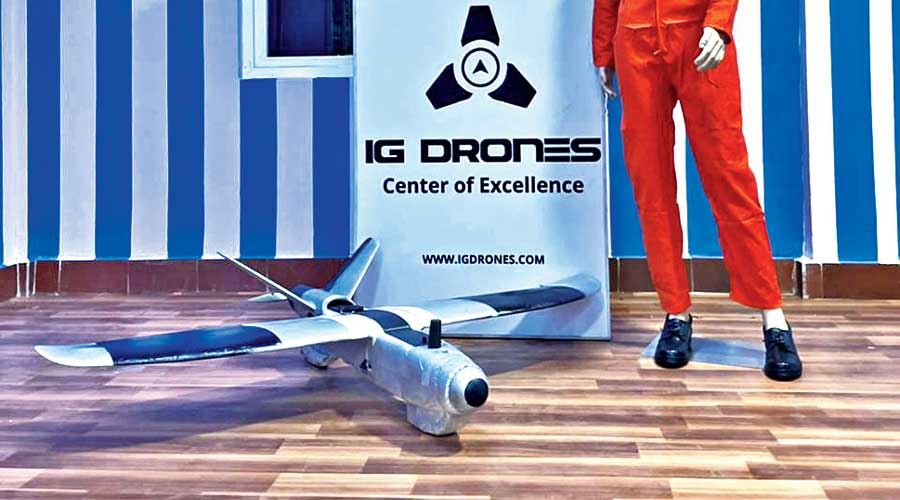 The drone developed at the Industrial Training Institute in Cuttack, Odisha.