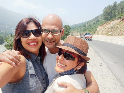 The travellers (L-R) Lopa Sharma, the author and Xiomara Lopez
