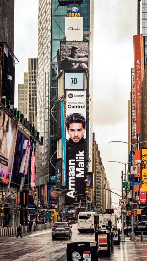 Last year, Armaan Malik became the first Indian singer-songwriter to be featured on the Spotify Times Square Billboard in New York for his English debut