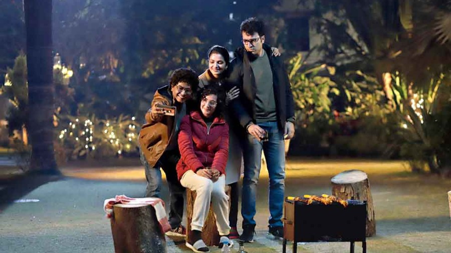Rudranil, Arpita, Tnusree and Abir