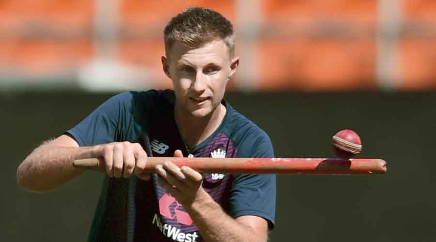 England skipper Joe Root  at practice on the eve of  the final Test