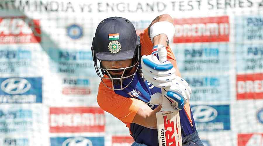 Captain Virat Kohli at nets