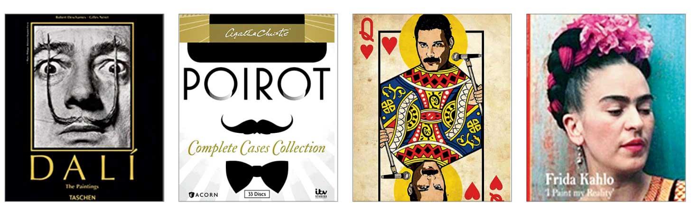 CLASS ACT: Salvador Dali, Hercule Poirot, Freddie Mercury and Frida Kahlo.