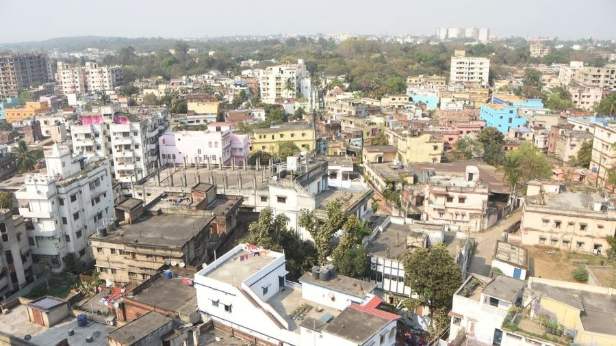 A view of the Dhanbad City on Friday.