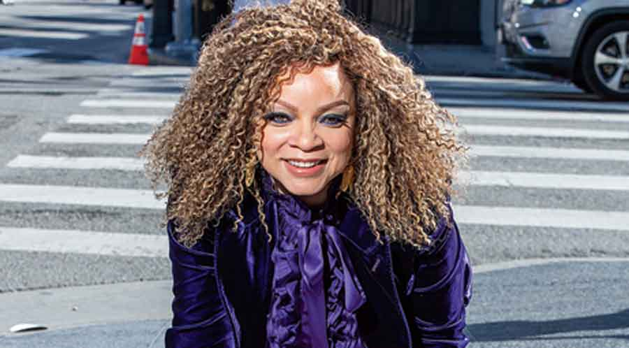 Ruth E. Carter with her star on the Hollywood Walk of Fame