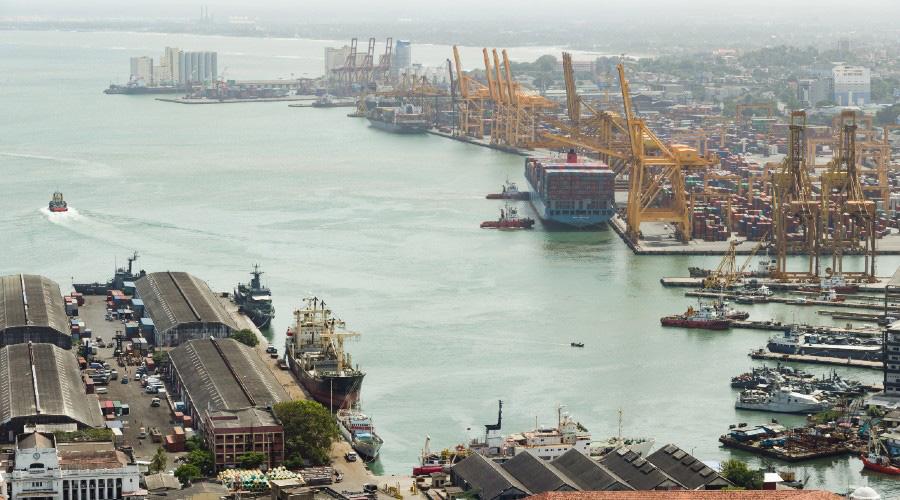 Colombo port.