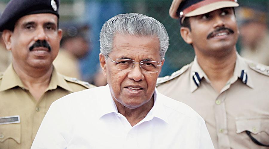 Chief minister Pinarayi Vijayan.