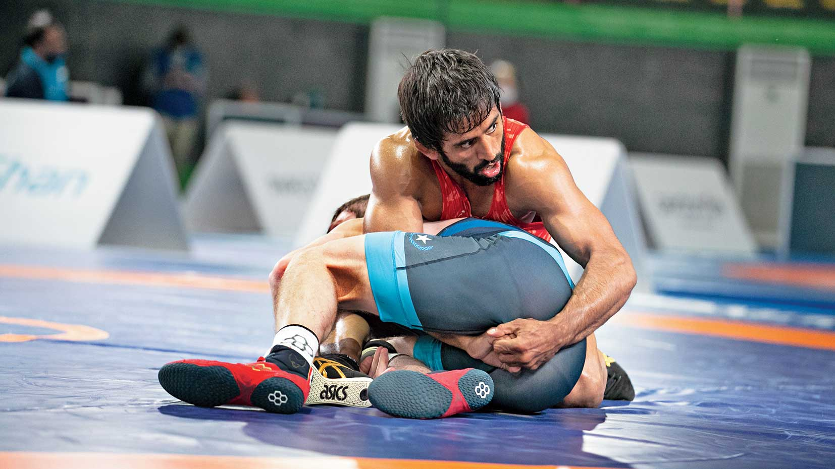 Bajrang Punia during the Matteo Pellicone Ranking Series in Rome