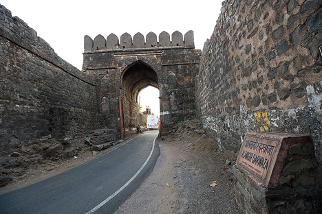 A fort-gate on the way
