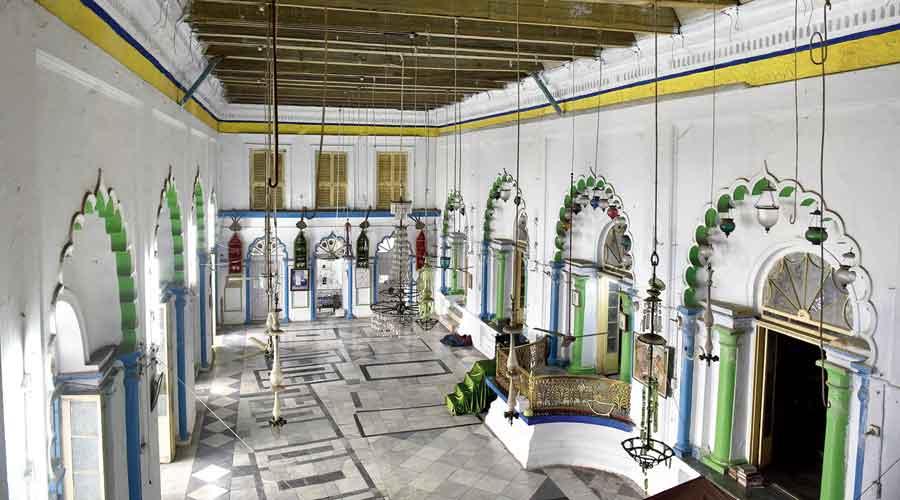 The interiors of the Sibtainabad Imambara in Garden Reach built by Nawab Wajid Ali Shah.