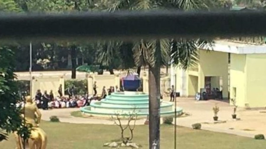 At least 200 people, many are students as pictured in Kan Thar Yar Park have been detained by Myanmar military