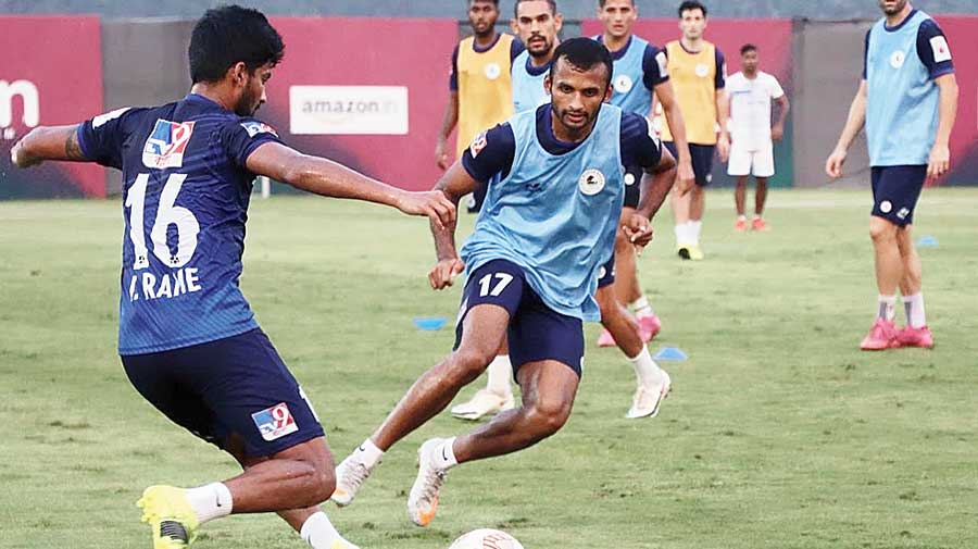 ATK Mohun Bagan players during a training session.