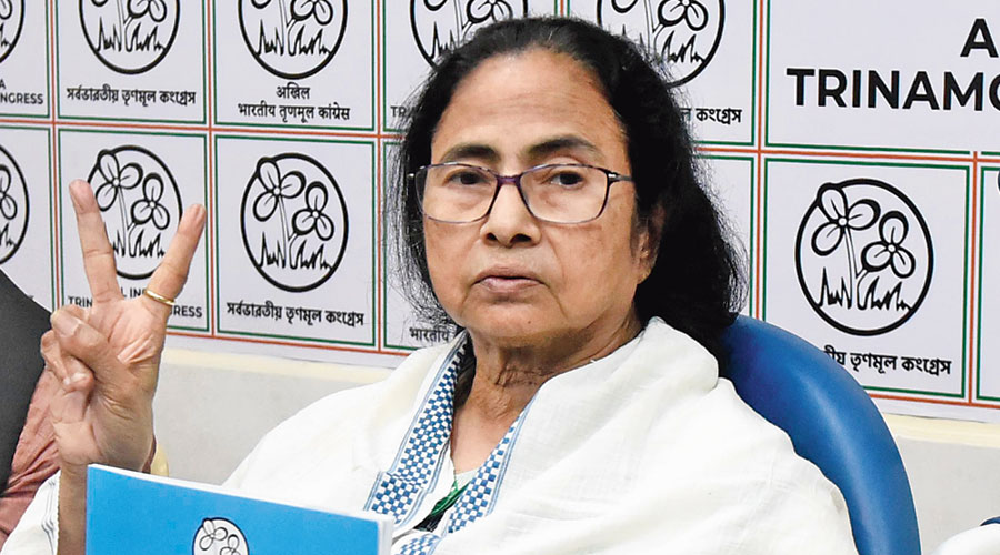 Mamata releases the Trinamul manifesto  on Wednesday.
