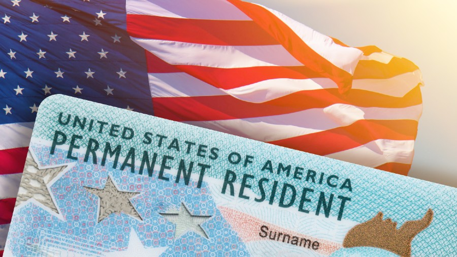 A Green Card, known officially as a Permanent Resident Card, is a document issued to immigrants as evidence that the bearer has been granted the privilege of residing permanently in the US.