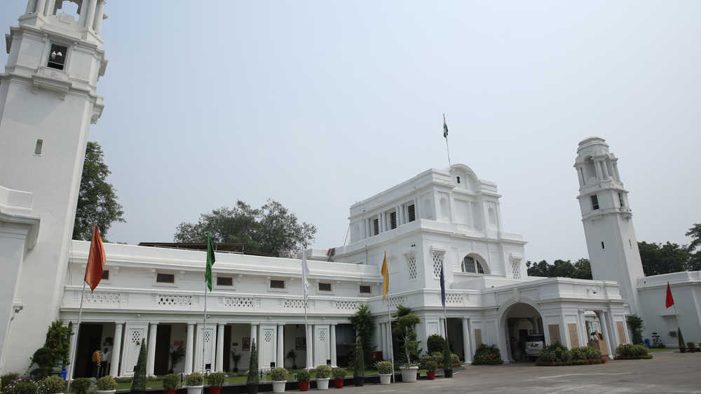 A view of Legislative Assembly of the National Capital Territory of Delhi, also known as the Delhi Vidhan Sabha.