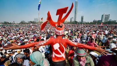 CPI(M) holds coalition rally in Brigade Grounds, Calcutta
