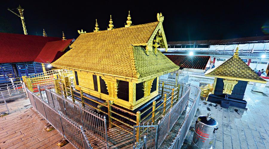 The Sabarimala temple.