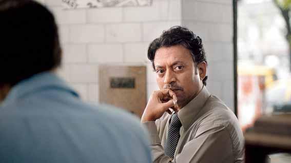 Irrfan as Saajan Fernandes in The Lunchbox