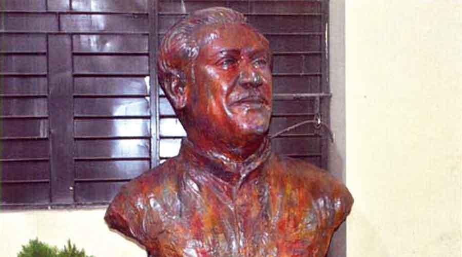 Bangabandhu Shekh Mujibur Rahman's bust placed at the entrance of the museum