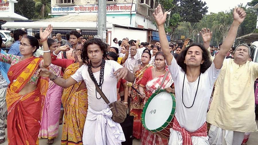 A Matua procession at Thakurnagar