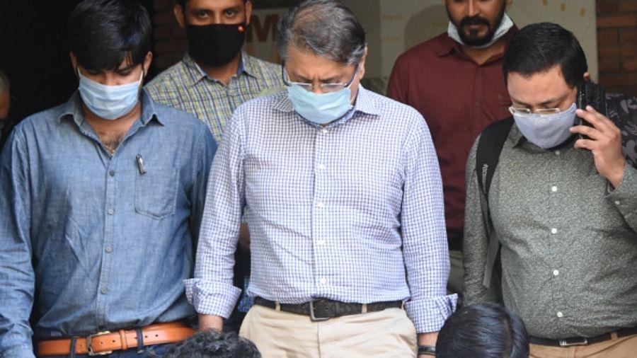 Deepak Kochhar outside the ED office in Mumbai in September last year.