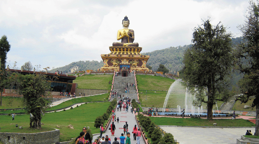 The Buddha statue at Ravangla in south Sikkim.