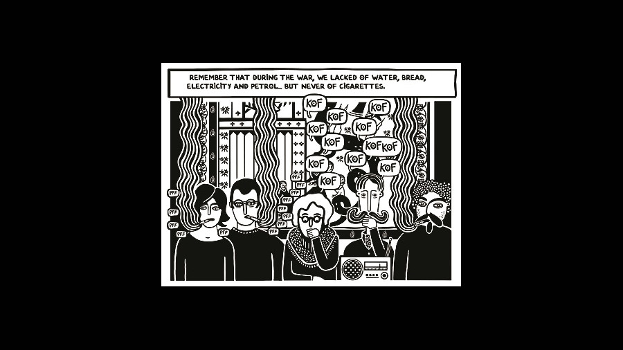 A panel from 'I Remember Beirut'.