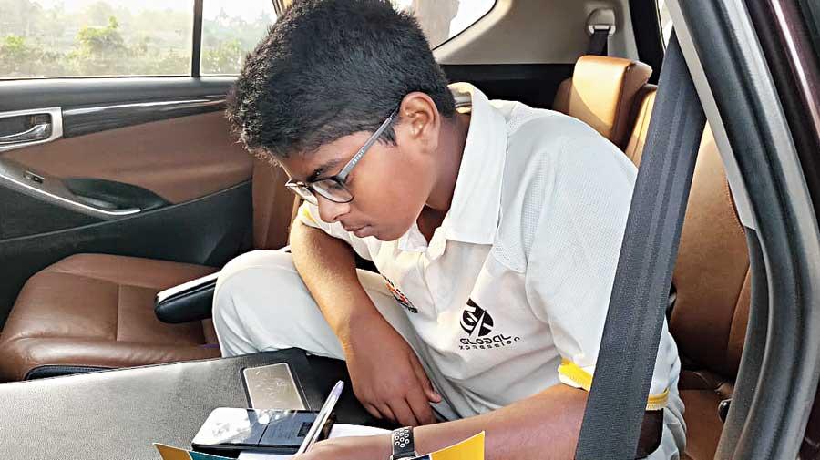 S. Shree Ganesan writes an exam