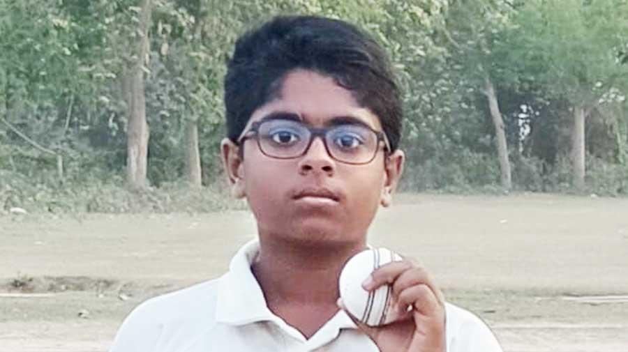 S. Shree Ganesanon the cricket field