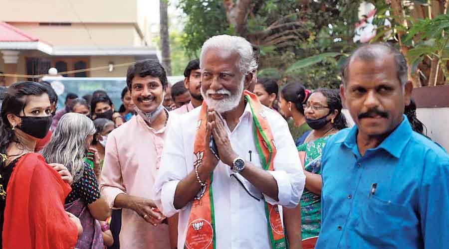 (From left) The BJP's Kummanam Rajasekharan