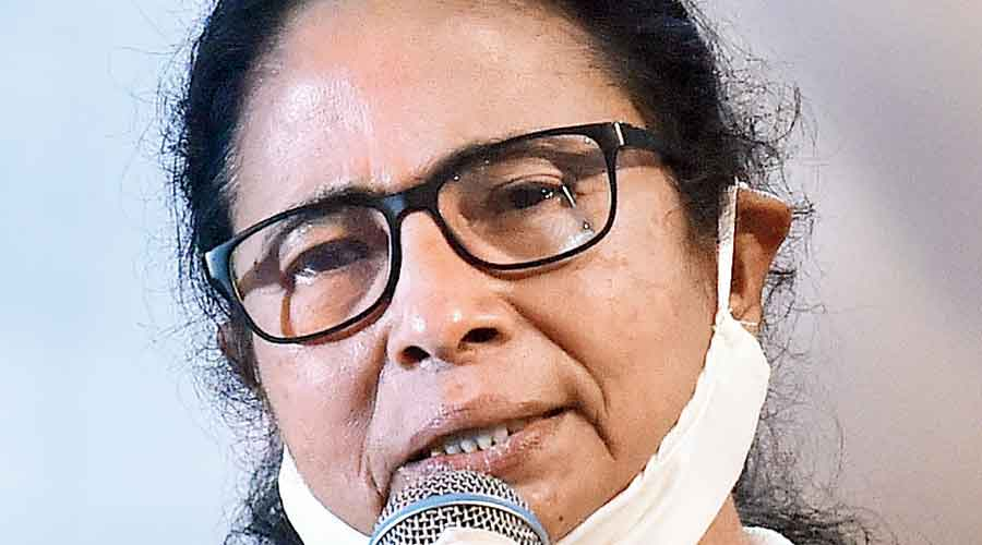 Mamata Banerjee interacts with journalists on Sunday evening