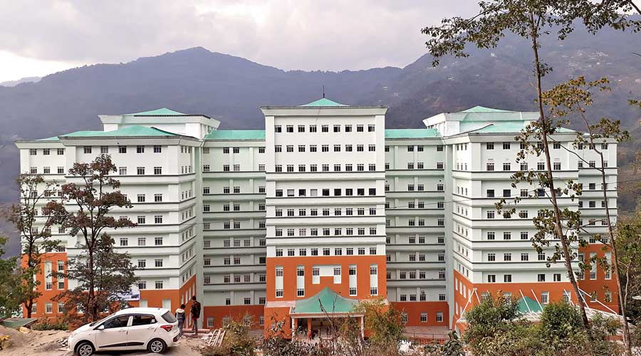The STNM Hospital in Gangtok.